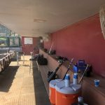 commercial cooling, baseball dugout